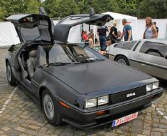 Black DeLorean (Schwanzus_Longus) Tags: street mag show hannover german germany us usa america american old classic vintage car vehicle coupe coupé delorean de lorean dmc 12