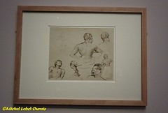 Théodore Géricault - Cinq croquis d'après le modèle Joseph et un Cavalier dit aussi Cinq croquis de noirs et d'un Cavalier, Plume et Encre brune (entre 1818 et 1824) (m.lebel) Tags: exhibition exposition muséedorsay paris france iledefrance géricault henrimatisse esclavage lemodèlenoir théodoregéricault cinqcroquis lemodèlejoseph cavalier plume encrebrune croquisdenoirs