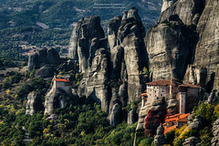 Meterora - Greece (stylianosl) Tags: fineart stylianos goldenhour landscape art landsceene nature corfuartphoto naturecolors finephotography landscapes clouds artphotography travelphotopgraphy travel landscapephotography sunsetcolors sunset sky greece stylianosphotography monastery artphoto meteora
