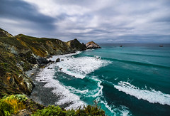 """The Color of Jade"" Big Sur, California (Cathy Lorraine) Tags: beautiful scenic rugged coastline ocean sea mountains cliffs dramatic unitedstates california centralcoast bigsur pacificocean"
