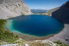 Big Blue Dot (Darren Umbsaar) Tags: mountains mountain carnarvon lake rockies alberta kananaskis country canadian canada water river blue aqua turquoise alpine tarn hike