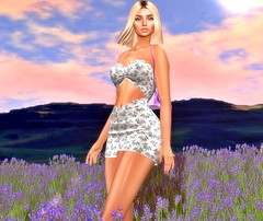 You call me lavender, you call me sunshine (Niki Cole) Tags: sl secondlife nikicole preciousniki blog blogger fashion trends beauty darkfire emojistore supernatural dreamlight vanity event lelutka maitreya glamaffair aviglam amias tableauvivant mug backdropcity summer lavender breeze
