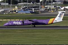 flybe Dash 8 Q400 G-ECOH at Birmingham Airport BHX/EGBB (dan89876) Tags: flybe de havilland canada dash 8 q400 dh8d gecoh birmingham international airport takeoff runway 33 bhx egbb