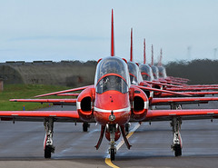 Head on Reds (np1991) Tags: royal air force raf lossiemouth lossie moray scotland united kingdom uk nikon digital slr dslr d7200 camera nikor 70200mm 70 200 70200 vibration reduction vr f28 lens aviation planes aircraft aerobatic display team red arrows reds bae hawk t1 north american tour usa canada us america states