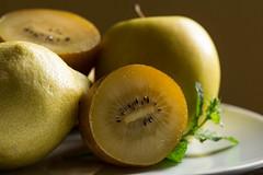 Yellow fruits (Gisou68Fr) Tags: crazytuesday yellow fruits kiwi pomme apple citron lemon menthe mint