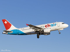 Chair Airlines A319-100 HB-JOG (birrlad) Tags: palma pmi international airport spain aircraft aviation airplane airplanes airline airliner airlines airways takeoff departure departing climbing runway chair eiger airbus a319 a319100 a319112 hbjog zurich