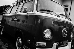 Vee Dub (W A G N E R • P I C T U R E S) Tags: vw van vehicle trendy cool bw monochrome camper surfing holiday seaside la california