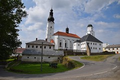 summer moods (JoannaRB2009) Tags: branna czechrepublic czechia building architecture white old historical castle church summer mood branná