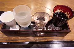 Japanese sake sampler (HAMACHI!) Tags: kyoto 2019 summer gion japan food foodporn foodie foodmacro japanesefood japaneserestaurant mizuoka みずおか 祇園みずおか kyotocuisine