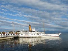 Port de Morges (portemolitor) Tags: cantondevaud morges portdemorges lacléman compagniegénéraledenavigationsurlelacléman cgn compagnie générale de navigation sur le lac léman bateau port