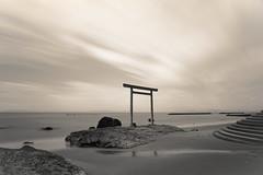 知多半島 (小川 Ogawasan) Tags: japan japon japani nippon nihon aichi chita sea sand le nd 知多半島 isewan 伊勢湾 nature landscape seascape lofi filter vintage retro longexposure