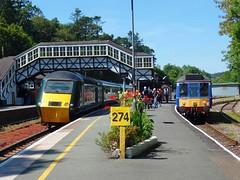 43042 & 121020 Bodmin Parkway (Marky7890) Tags: 121020 class121 bubblecar heritagedmu bodminwenford gwr 43042 class43 hst 2p61 bodminparkway railway cornwall cornishmainline train