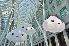 Into the Clouds by Pearl Wagner, FriendsWithYou, Brookfield Place, Toronto, ON (Snuffy) Tags: friendswithyou intotheclouds pearlwagner brookfieldplace toronto ontario canada allenlambertgalleriea