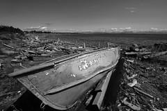 Boat for rent. (GStick) Tags: campbellriverbc rentals abandoned fujifilm landscape beach boat vancouverisland