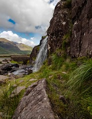 Waterfall (ivanstevensphotography) Tags: water waterfall cascade rocks foliage plants grass cliffs mountains scenery road bridges clouds colour sky landscape nature canon80d canon