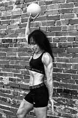 body builder portrait (ABWphoto!) Tags: virginia outside one woman female bodybuilder athleticclothing sports exercise healthylifestyle weights body muscles blackandwhite