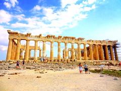 Acropolis. Parthenon (dimaruss34) Tags: brooklyn dmitriyfomenko image sky clouds greece athens acropolis newyork architecture parthenon ruins people