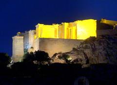 Acropolis. Propylaea and Agrippa Pedestal at Night (dimaruss34) Tags: brooklyn dmitriyfomenko image sky greece athens acropolis newyork architecture nightsky night propylaea agrippapedestal trees ruins