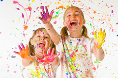fingerpainting fun (opjmjbge98) Tags: colors fingerpaints paint painting savanna sophie colorful kids mess messy finger fun craft crafts hands painted school laughing purple yellow red pink orange isolated white background splattered artists artist art collage fingerpainting artistic girls sisters friends two childhood cute funny painter play playing splatter splash palm young spray unitedstatesofamerica