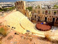 Acropolis. Odeon of Herodes Atticus (dimaruss34) Tags: brooklyn dmitriyfomenko image sky clouds greece athens acropolis newyork architecture ruins theatre odeonofherodesatticus amphitheatre