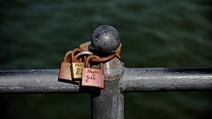 Love locks (dl1ydn) Tags: dl1ydn liebesschlösser lovelocks ostsee seebrücke misdroy bridge canon 3570mm f4 manual manuell balticsea nahaufnahmen schlösser