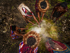 The Most Isolated Tribe in Indonesia. (tehhanlin) Tags: indonesia people portrait sony travel tribes baliem culture cultures dani danitribe face faces family festival ikipalin isolated koteka noken papua places remote tradition tribal tribe valley wamena worrior ngc culunary food