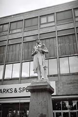 On Plinth (bigalid) Tags: film 35mm yashica mf2super 2019 may ilford xp2 c41 bw carlisle statue