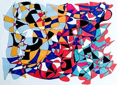 (Imara U.) Tags: abstract art arte artista artist pattern patterns painting caneta ink colorful colors color colorido cores cor circles lines linescurves