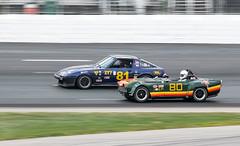 EP Car 80 and IT7 Car 81 (Eric Kilby) Tags: nhms racing autosport motorsport scca it7 ep triumph porsche