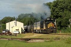 PREX 2003 in Mapleton, Illinois on August 6, 2019. (soo6000) Tags: gp20 emd prex prex2003 geep mapleton illinois transfer freight train railroad leasepower kjry