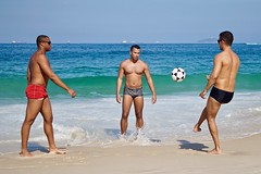 Footvolley players (alobos life) Tags: ball beach playa copacabana nice beautiful cute brazilians boys garotos rio de janeiro brasil brazil sunga