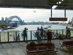 _0068901 (Pierre LaScott) Tags: australia street sydney circularquay operahouse harborbridge train