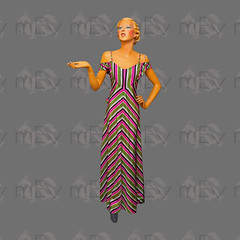1940s Drop Shoulder Taffeta Striped Evening Gown Dress (Rickenbackerglory.) Tags: vintage 1940s siegel mannequin dropshoulder taffeta striped eveninggown