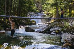 Nemo Creek (JeffAmantea) Tags: nemo creek falls waterfall water fall people crossing rock granite flow majestic sony alpha sonyalpha a7ii emount mirrorless metabones nikon nikkor 50mm f14 hiking camping hike camp explore adventure