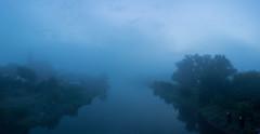 blue fog 5 am (SvenEH) Tags: nebel fog fürstenberg an der oder spreekanal