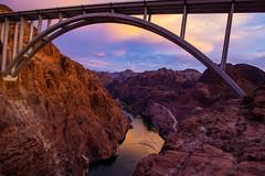 Arch over the Colorado River (Daren Grilley) Tags: us93 colorado river hoover dam boulder city las vegas nevada arizona border bridge civil engineering
