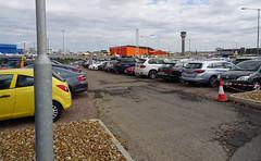 Luton loveliness (stevenbrandist) Tags: lutonairport travelogue carpark cones trafficcones cone