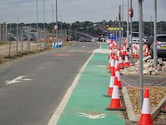 Works in progress (stevenbrandist) Tags: lutonairport travelogue carpark cones trafficcones cone