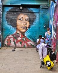 Street Art, London, UK (Robby Virus) Tags: london england uk unitedkingdom britain greatbritain gb street art woman portrait mural brick lane