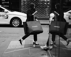 CHANEL (McLovin 2.0) Tags: chanel shopping street streetphotography people candid window reflection urban city melbourne olympus em1 bw monochrome blackandwhite