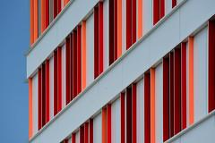 Facade with red (Jan van der Wolf) Tags: map186612v mmc ziekenhuis hospital red rood facade gevel architecture architectuur uithof utrecht