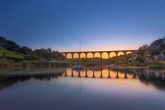 Calstock Railway Viaduct (Connor Owen Skidmore`s Photography) Tags: calstock cornwall railway river tamar greatwesternrailway gwr sunset longexposure canon 5dmkiv landscape