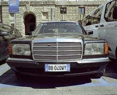 Mercedes (dmitriy.marichev) Tags: mamiya7ii mamiya mamiya7 mercedesbenz mercedes mediumformat film car analog color italy padova dmitriymarichev