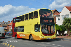 Go Ahead East Yorkshire 709, YX06CXK. (EYBusman) Tags: go ahead north east yorkshire motor services eyms hull bus coach cliff road hornsea new livery volvo b7tl wright eclipse gemini yx06cxk eybusman
