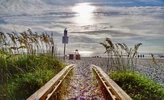 A good day! Jacksonville Beach, Florida (Mario & Debbie) Tags: scenic nature landscape summer sand northflorida firstcoast florida water sea ocean playa beach sunrise sun