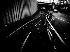 GuideLines-2.jpg (Klaus Ressmann) Tags: omd em1 fparis france klausressmann winter blackandwhite cityscape contrast design flccity road suburb omdem1