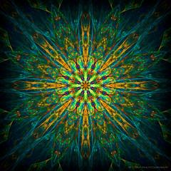 Flower Power ❀ (Rollingstone1) Tags: kaleidoscopeart flower flowerpower 60s 70s colour vivid image psychedelic abstract art artwork avantgarde