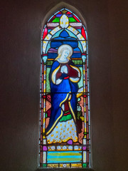 P1034507 (crapatdarts) Tags: crapatdarts dorset stmaryschurch winterbornewhitechurch church stainedglasswindow