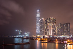 Light Houses (TVZ Photography) Tags: hdr highdynamicrange westkowloon jordan tsimshatsui kowloon hongkong architecture towers city cityscape skyline water reflection night evening longexposure lowlight sonya7riii sony 1635mm sel1635gm