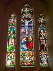 P1034506 (crapatdarts) Tags: crapatdarts dorset stmaryschurch winterbornewhitechurch church stainedglasswindow
